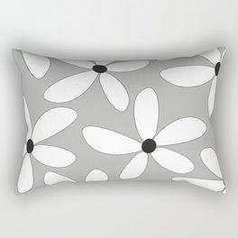 Happy flowers Gray Rectangular Pillow