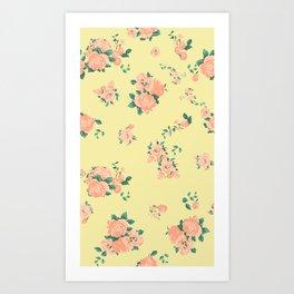 Yellow Summer Rose Floral Art Print