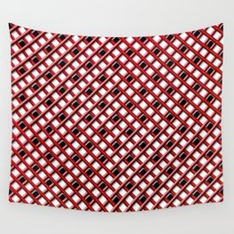 Red Lattice Weave Wall Tapestry