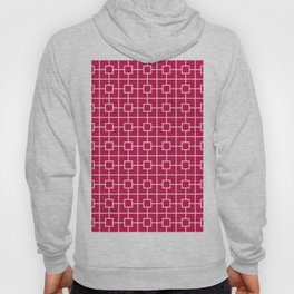 Ruby Red Square Chain Pattern Hoody
