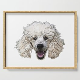 Poodle formal dog varieties Standard Miniature Toy breed Serving Tray