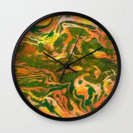 Marbleized and Glazed Wall Clock