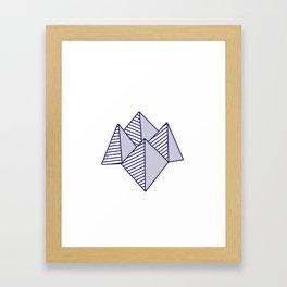 Paku Paku, navy lines Framed Art Print