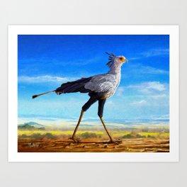 Secretary Bird Art Print