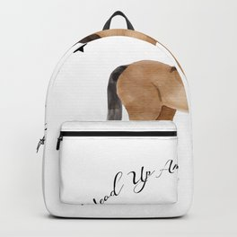 Head Up And Heels Down Gifts Horse Lovers Racing Backpack