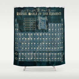 Periodic shower curtains society6 periodic table of elements shower curtain urtaz Choice Image