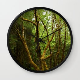 A Moos Laden Tree Wall Clock