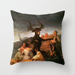 The Sabbath of witches - Goya Throw Pillow