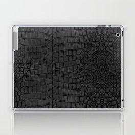 Black Crocodile Leather Print Laptop & iPad Skin