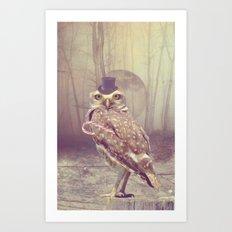 Fairy tale : owl Art Print