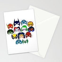 Superhero Masks Stationery Cards