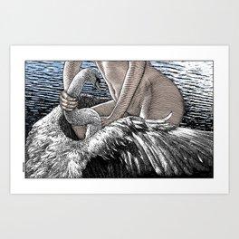 asc 677 - Les ailes du désir (The swain in disguise) Colored version Art Print