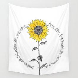 Walt Whitman Sunflower Illustration Wall Tapestry