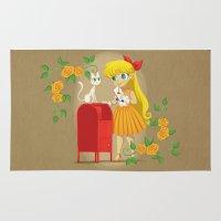 sailor venus Area & Throw Rugs featuring Retro Sailor Venus by Crimson Pumpkin