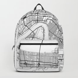 New Orleans Map White Backpack