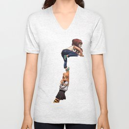 Invisible wall Unisex V-Neck