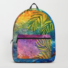 """Tropical Paradise"" Backpack"