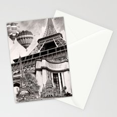 French Collage v2 Stationery Cards