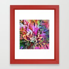 Tropical Painted Peony Framed Art Print