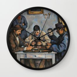 The Card Players (Les Joueurs de cartes) (ca 1890-1892) by Paul Cezanne Wall Clock