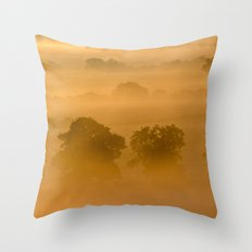 Gold in the Hedgerows Throw Pillow