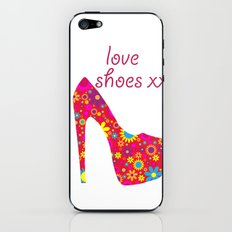 Love Shoes Floral Fun Art iPhone & iPod Skin