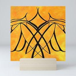 Women Together Minimalistic Line Drawing Mini Art Print
