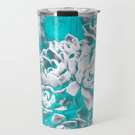 Turquoise Hen & Chick Travel Mug