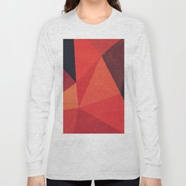 Abstract geometric patter.Triangle background Long Sleeve T-shirt