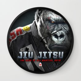Jiu Jitsu is King Wall Clock