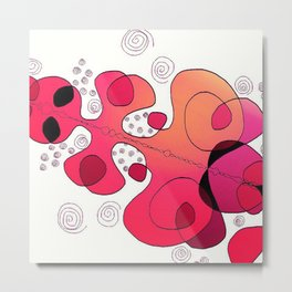 Pink bubbly Metal Print
