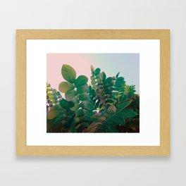 Emerald foliage Framed Art Print