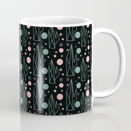 Cactus Geometric Pink and Green Coffee Mug