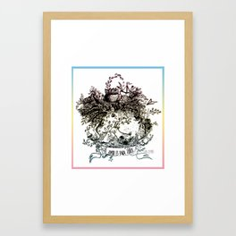Love is for everyone  Framed Art Print