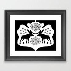 Rorschach Inkblot Framed Art Print