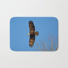 Bald Eagle Soaring Over Bath Mat
