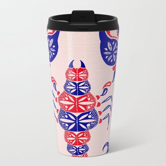 Patriotic Scorpion Metal Travel Mug
