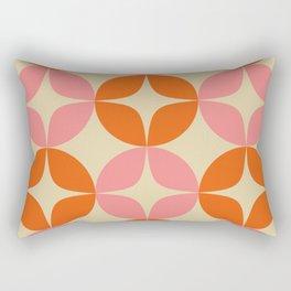 Mid Century Modern Pattern in Pink and Orange Rectangular Pillow