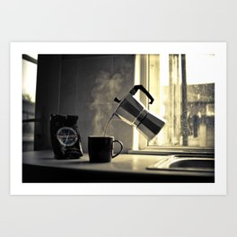 morning caffe  Art Print