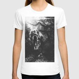 Black and white Jurassic period T-shirt