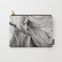 Andalusian Horse Oil Painting Monochrome Carry-All Pouch