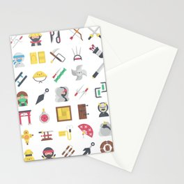 CUTE NINJA PATTERN Stationery Cards