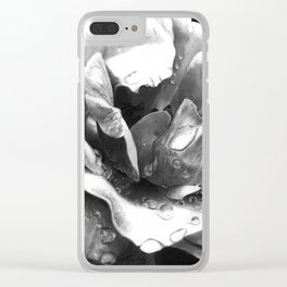 Morning Rose - greyscale version Clear iPhone Case