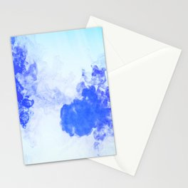 Paint blue Stationery Cards