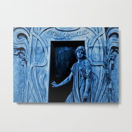 Tomb of Rufina Cambaceres - The Girl That Died Twice Portrait Painting by Jeanpaul Ferro Metal Print
