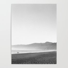 Walking on a Beach into the Sunset Poster