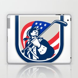American Patriot Ice Hockey Shield Laptop & iPad Skin