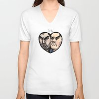 sterek V-neck T-shirts featuring Sterek by lolbatty