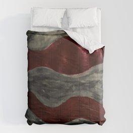 Warped Red rum Comforters