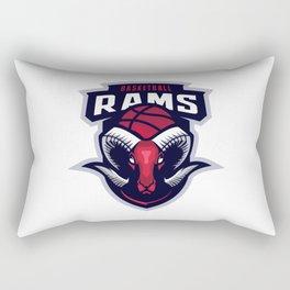 Goat Basketball Team Mascot Logo Rectangular Pillow